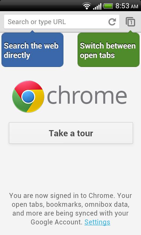 Chrome mit verbesserter Suche