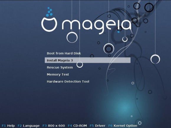 Mageia 3: Bootscreen