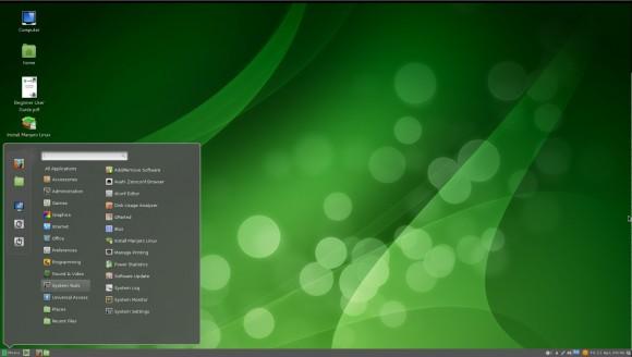 Manjaro Linux 0.8.5 Cinnamon: Menü