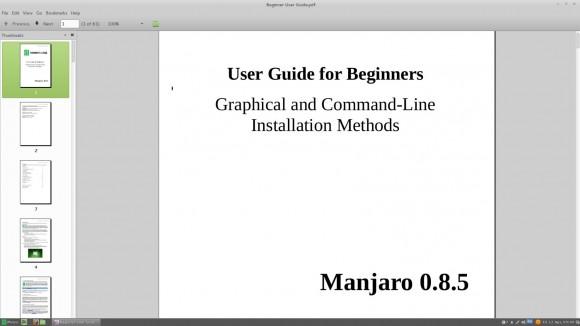 Manjaro Linux 0.8.5 Cinnamon: Beginner-Handbuch
