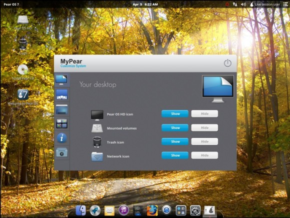 Pear OS 7: MyPear