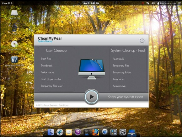 Pear OS 7: CleanMyPear