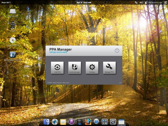 Pear OS 7: PPA-Mananger