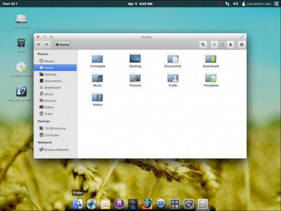 Pear OS 7: Finder