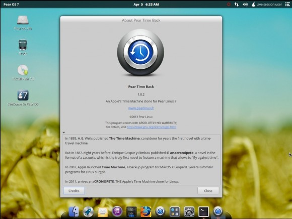 Pear OS 7: Time Back ist anaCRONOPETE