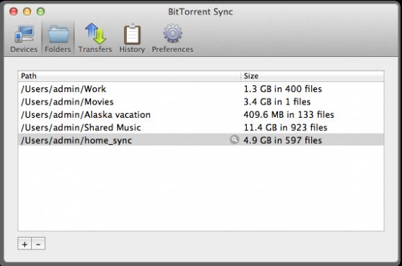 BitTorrent Sync: Ordner festlegen (Quelle: bittorrent.com)