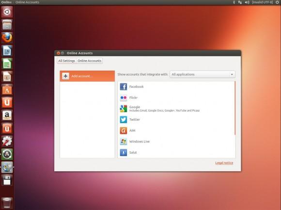 """Ubuntu 13.04 """"Raring Ringtail"""": Online-Konten"""