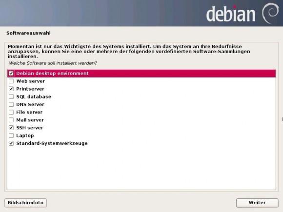 Debian 7 Wheezy: Software-Auswahl