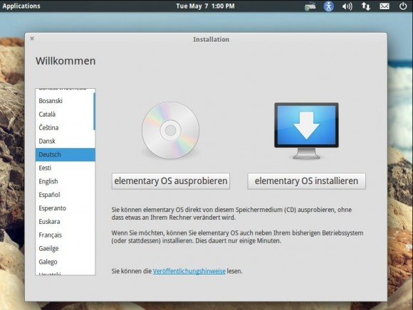 elementary OS Luna: Installieren oder ausprobieren