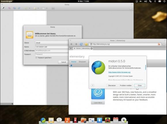 elementary OS Luna: Geary und Midori