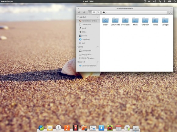 elementary OS Luna: Dateimanager