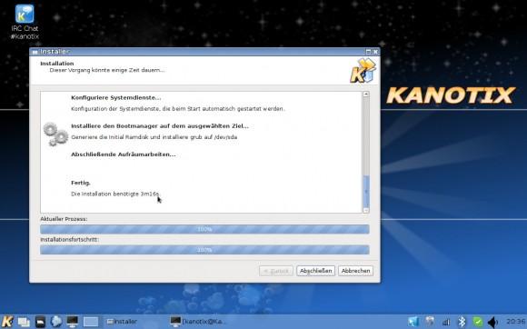 Kanotix LinuxTag 2013 Dragonfire: Installer