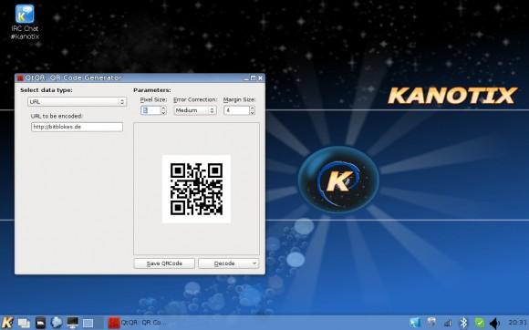 Kanotix LinuxTag 2013 Dragonfire: QR-Generator