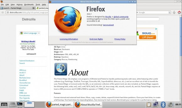 Parted Magic 2013_05_01: Firefox