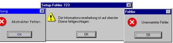 Windows-Fehlermeldungen