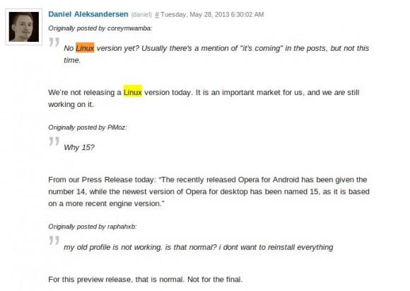Opera M2 auch für Linux