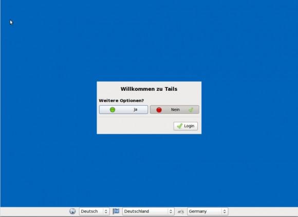 Tails 0.19: Begrüßung