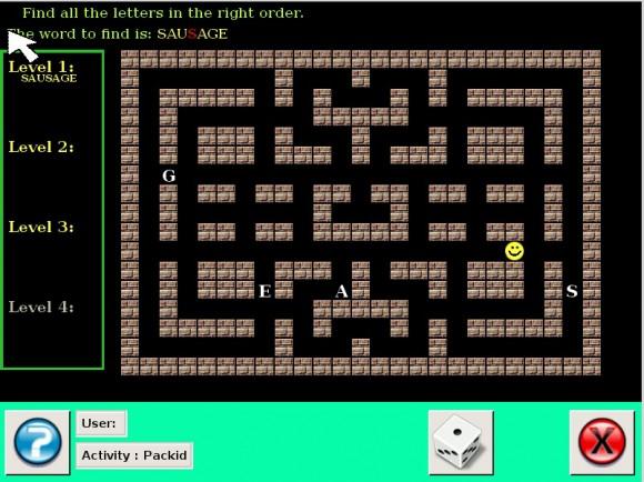 Doudou Linux 2.0: Buchstaben fressen