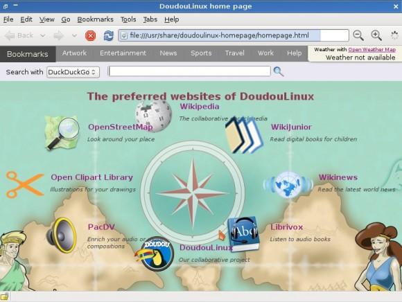Doudou Linux 2.0: Internet