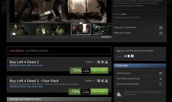 Left 4 Dead 2: Zombies im Sonderangebot