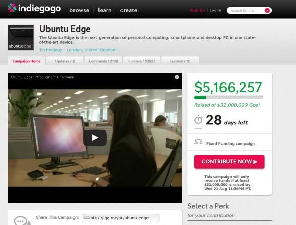 Ubuntu Edge knackt die 5 Millionen