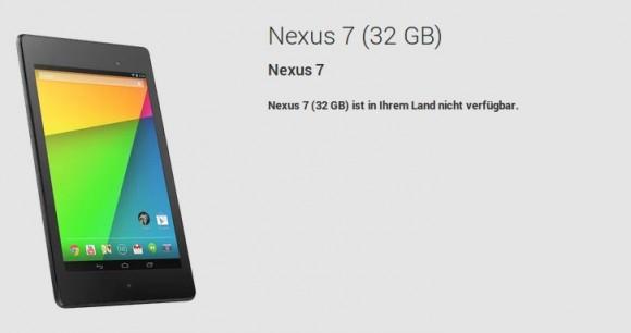 Das neue Nexus 7: In Deutschland noch nicht verfügbar
