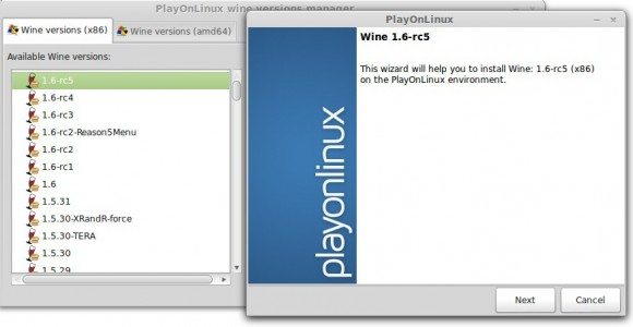 Wine 1.6 via PlayOnLinux
