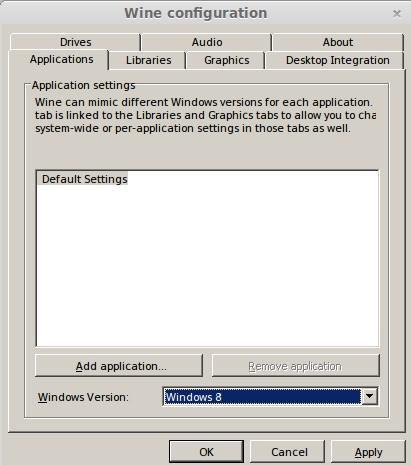 Wine kann den Windows 8