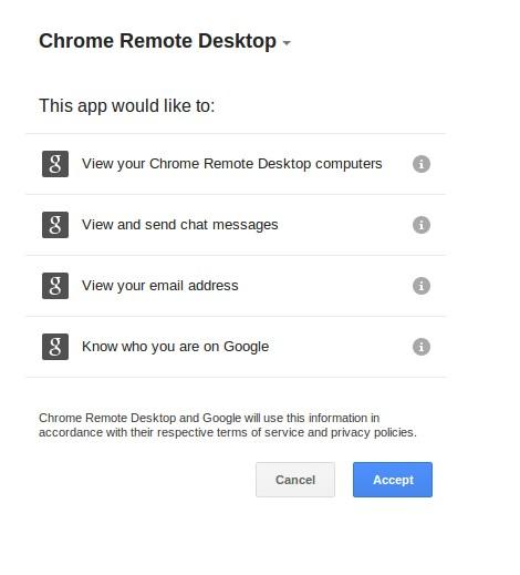 Chrome DEsktop App will einige Rechte