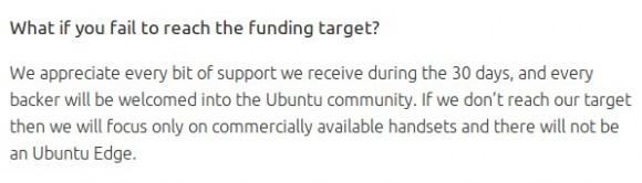 Ziel nicht erreicht? Kein Ubuntu Edge ...