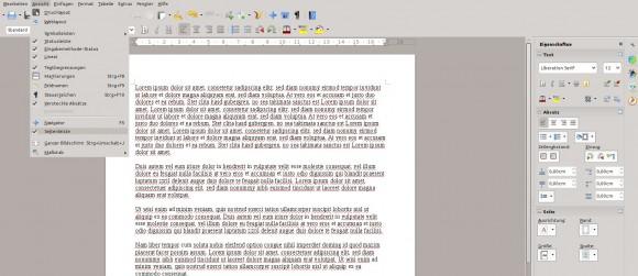 LibreOffice 4.1: Seitenleiste ein- und ausblenden