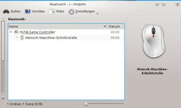 OUYA GAME CController unter Kubuntu 13.04: hinzugefügt
