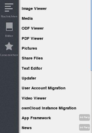 ownCloud: App Framework und News aktiviert