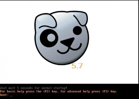 Precise Puppy 5.7: Bootscreen