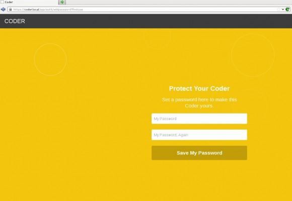 Coder: Passwort vergeben