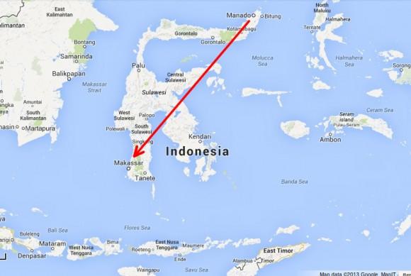 Manado -> Makassar (zirka 1,5 Stunden)