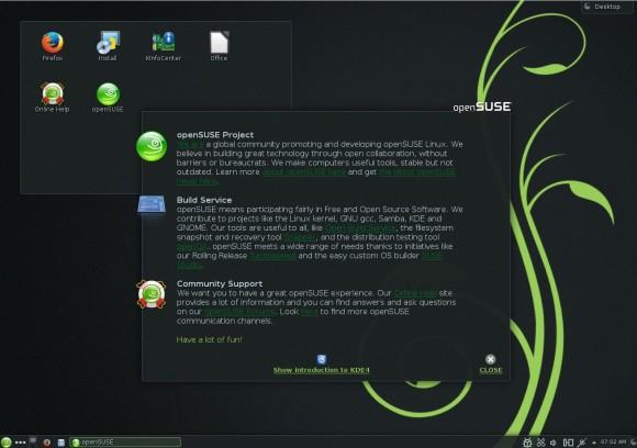 openSUSE 13.1 KDE: Willkommen