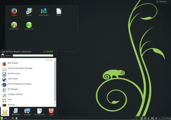 openSUSE 13.1: KDE Menü
