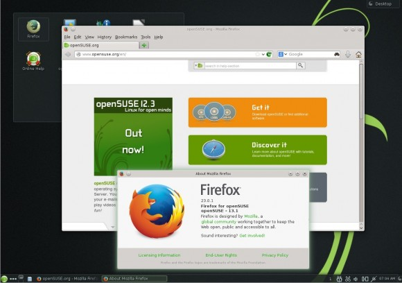openSUSE 13.1 KDE: Firefox