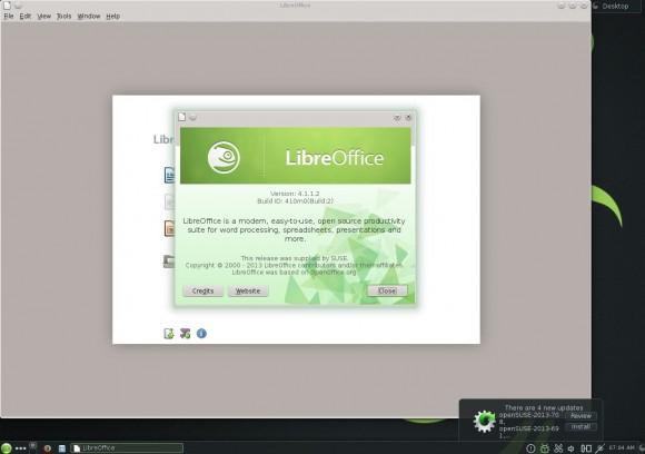 openSUSE 13.1 KDE: LibreOffice