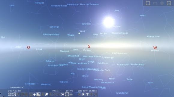Stellarium: Atmosphäre aktiviert