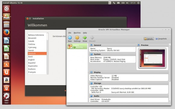 "Ubuntu 13.10 ""Saucy Salamander"" in VirtualBox 4.3 installieren"