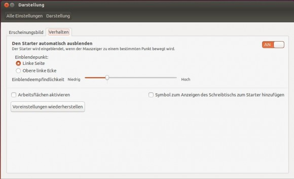 Ubuntu 13.10: Startleiste verstecken
