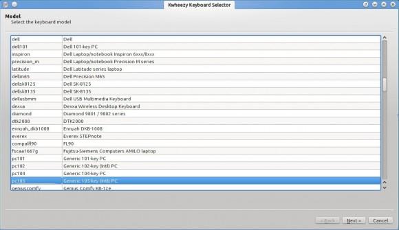 Kwheezy 1.3: Keyboard-Selector