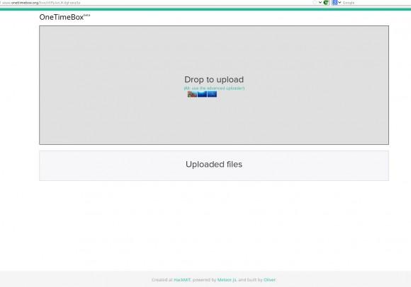 OneTimeBox: Dateien hochladen