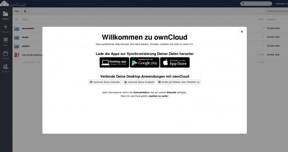 ownCloud 6: erstes Anmelden