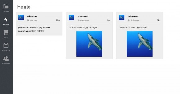ownCloud 6: Aktivitäten