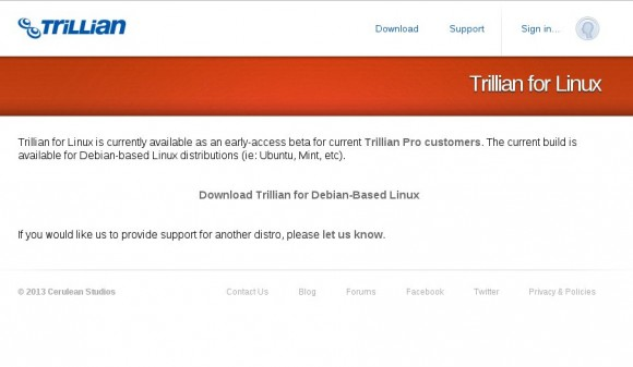 Trillian für Linux (Beta)