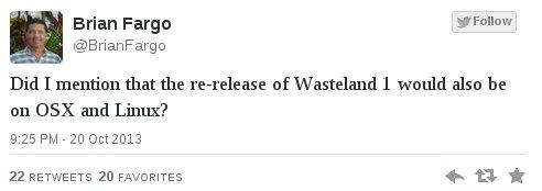 Wasteland 1 für Linux!