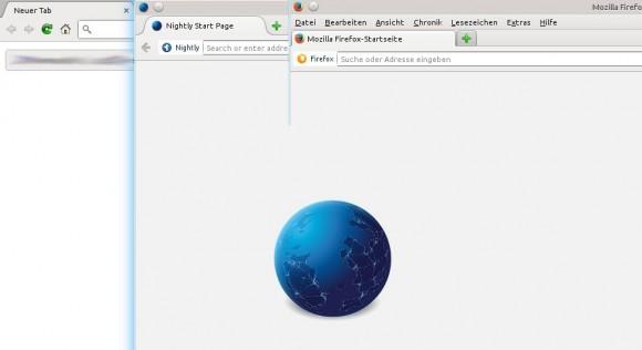 Platzvergleich: Chromium vs Firefox vs Australis